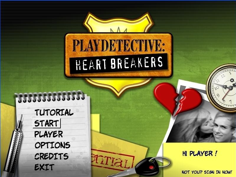Adventure detective game